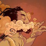 A-Man-Smoking-font-b-Drugs-b-font-Poster-Fantasy-Abstract-font-b-Art-b-font